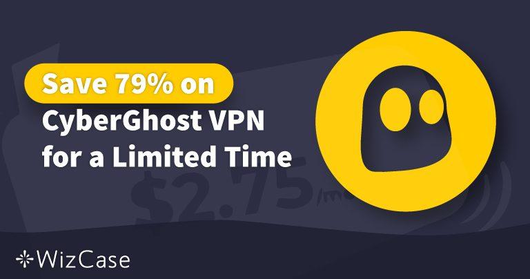 CyberGhost VPNの有効なクーポン2020年:本日最大79%の割引